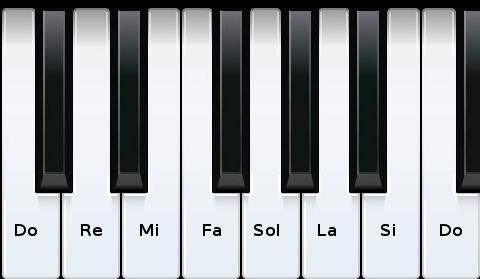 Teclado sons naturais